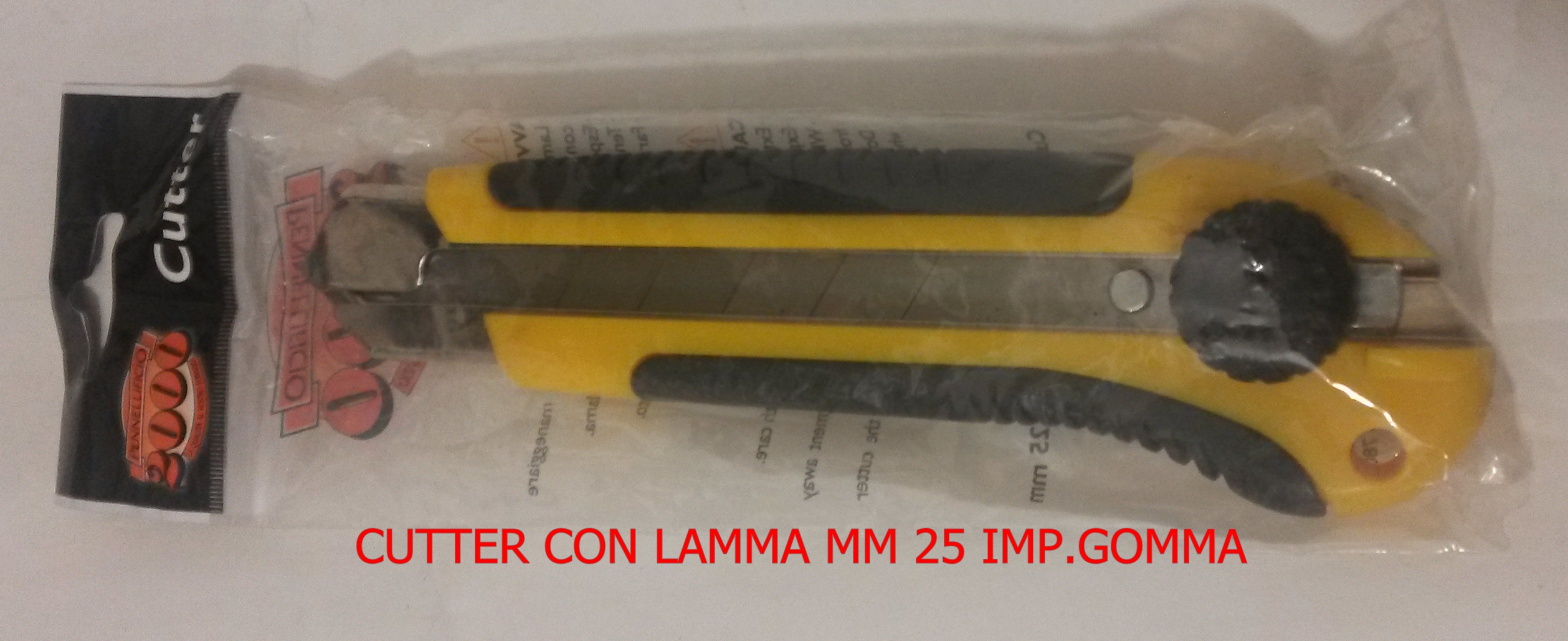 CUTTER CON LAMA MM 25